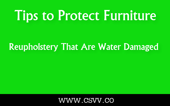 Tips to Protect Furniture Reupholstery That Are Water Damaged