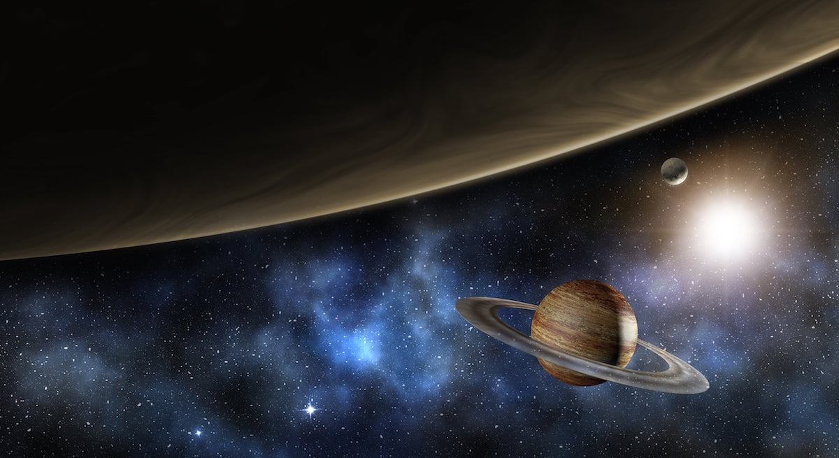 Planets and The Milky Way Illustration - SolVibrations