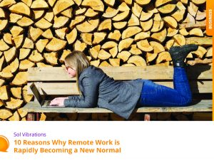 Girl Laying on the Bench and Working on the Laptop - SolVibrations