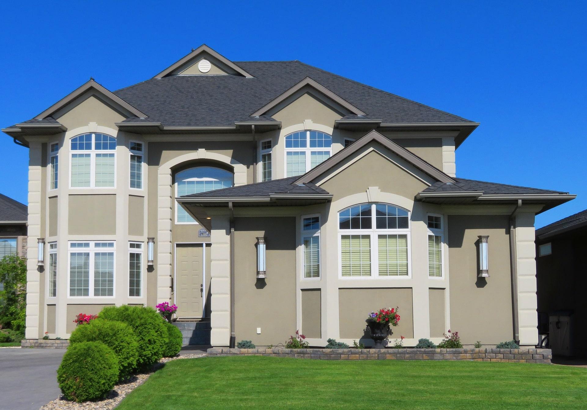 Gray Luxury House Exterior - SolVibrations