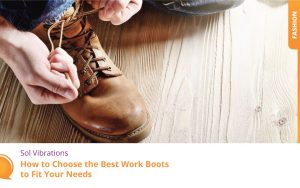 Carpenter in Blue Jeans Tying Shoelaces of Yellow Boots - SolVibrations
