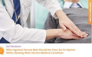 Doctor Examining Stomach of Senior Man for Inguinal Hernia Belt - SolVibrations